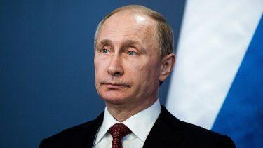 Russian President Vladimir Putin in February. Putin has made his support for Assad clear.