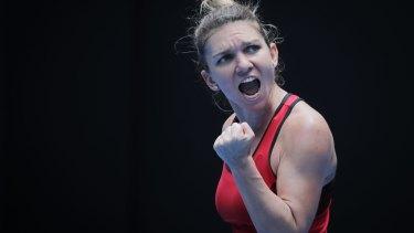 Simona Halep wins an epic against American Lauren Davis.