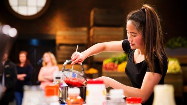 Michelle Lukman, 19, creates a gobsmacking food creation on MasterChef.