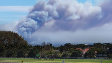 The fire is emitting large amounts of smoke, which can be seen right across Sydney, including Royal Randwick.