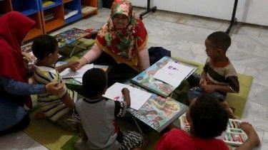 A class run by Dompet Dhuafa in Jakarta.