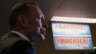 Prime Minister Tony Abbott, during their visit to Harvey Norman in Canberra, said his focus was on passing key budget measures.
