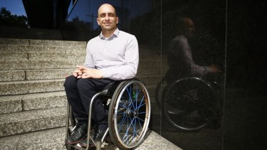 Paul Nunnari is a former Paralympian who works in the Premier's department.