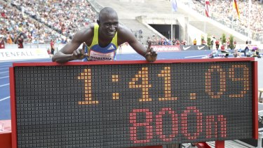 Up in lights: Olympic champion and world record-holder David Rudisha races in Sydney and Melbourne next month.