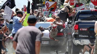 One person was killed after a 20-year-old drove his car into people protesting the white nationalist rally.