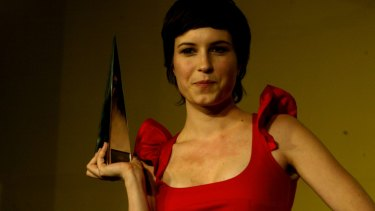 Missy Higgins when she won the ARIA for Best Female Artist in 2005.