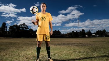 Sam Kerr will play Brazil in front of a full house in Penrith this week.