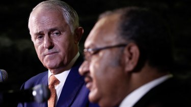 Prime Minister Malcolm Turnbull and Papua New Guinea Prime Minister Peter O'Neill.
