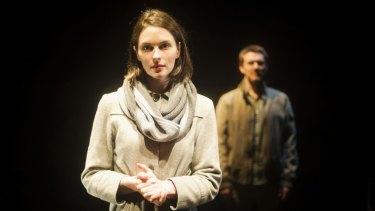 Rosie Lockhart and Ben Prendergast in Red Stitch's Dead Centre/Sea Wall.