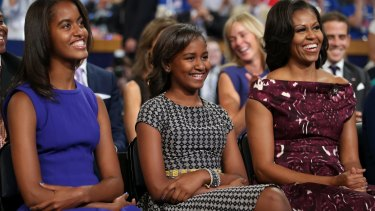 Malia, Sasha and Michelle Obama, pictured in 2012.
