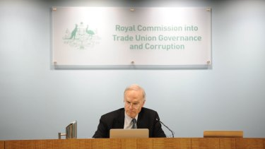 Under fire ... royal commissioner Dyson Heydon was due to be a guest speaker at a Liberal party fundraiser.