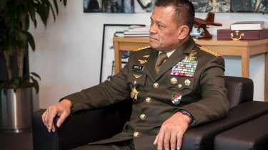 'The relationship between Indonesia and Australia is not shaky': Indonesian military chief Gatot Nurmantyo.