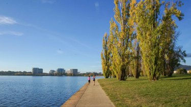 Lake Burley Griffin, Canberra.