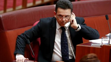 Senator Nick Xenophon during debate in Parliament on Friday.