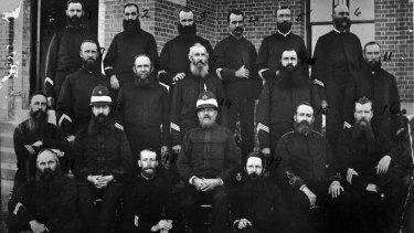 Police officers in Brisbane, 1888.