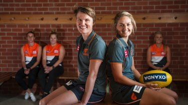 Clare Lawton, Britt Tully, Jess Bibby, Ellie Brush and Ella Ross will play for the GWS Giants.