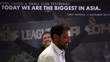 Walking away: Tony Popovic felt uneasy with leaving a club fashioned in his image.