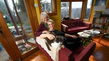 Dr Penny Whetton (left) and Senator Janet Rice have been married for 31 years.