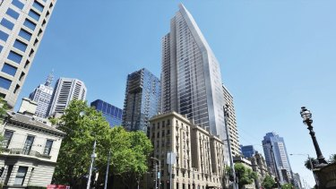 Grocon's proposal for 85 Spring Street, designed by architects Denton Corker Marshall.