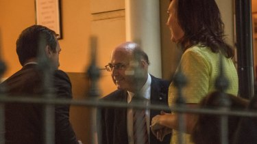 Liberal Senator Arthur Sinodinos arrives as the guest speaker at a Liberal Party fundraiser in Sydney last week.
