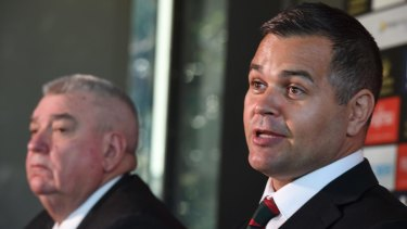 Study plan: Anthony Seibold with Shane Richardson at the announcement of the assistant coach's appointment.