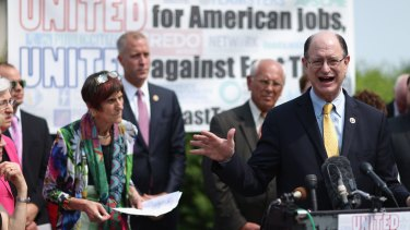 US Congressman Brad Sherman and fellow Democrats  voice their opposition to the Trans-Pacific Partnership trade deal last week.