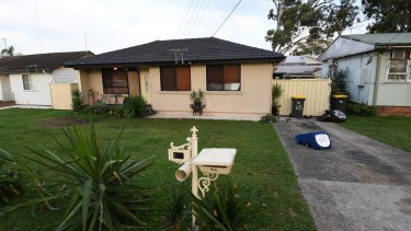 The Lurnea home where the boy was injured on Monday night.