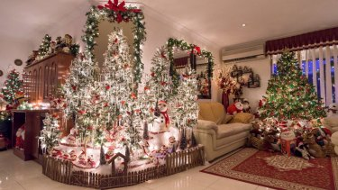 A Meadow Springs couple decorate their entire home with Christmas decorations every year.