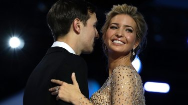 Ivanka Trump and her husband Jared Kushner dance at the Freedom Ball.