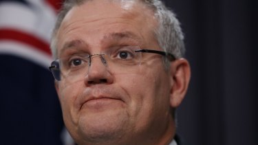 "Treasurer Scott Morrison said the fall in GDP was ""not just a reminder, not just a wake-up call."""