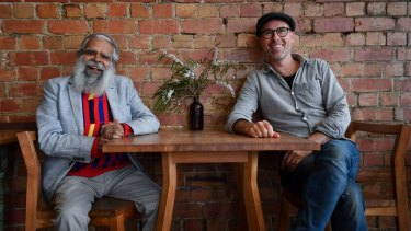 Jack Charles (left) and playwright Dan Lee, who met when Lee was writing his debut play, <i>Bottomless</I>.