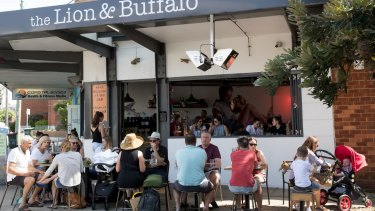 The Lion and Buffalo cafe is a small but popular eatery.