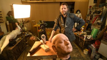 Ronnie van Hout in his Melbourne studio.