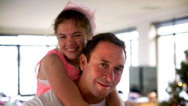 Canberra Raiders coach Ricky Stuart and his daughter Emma.