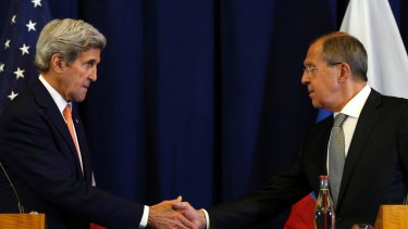 US Secretary of State John Kerry (left) and Russian Foreign Minister Sergei Lavrov during talks on the Syria crisis this month.