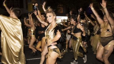 The 2016 Gay and Lesbian Mardi Gras parade.