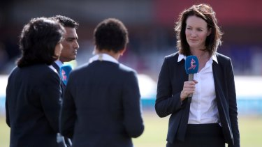 English broadcaster Alison Mitchell (right) will commentate the Ashes on BBC and ABC radio and English television