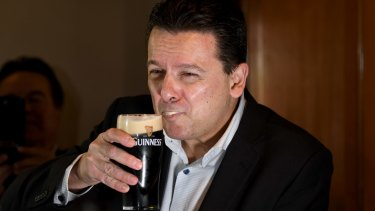 Senator Nick Xenophon after confirming his dual citizenship status.