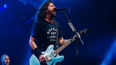 One of music's more affable, often flat-out hilarious frontmen in Dave Grohl.