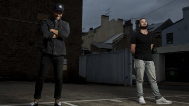 """""""A place like Newtown or the inner west, it has a creative energy to it"""": Nick Lupi and Jimmy Nice, of Spit Syndicate."""