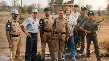 Shane Connelly on a United Nations mission in Cambodia in the 1990s.