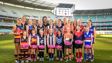 Major milestone: The AFL's Women's National League was launched at the MCG.
