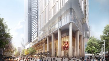 Walker Corporation's proposed new commercial tower at 6 and 8 Parramatta Square.