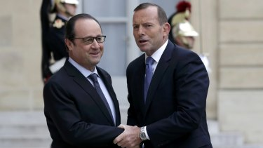 Prime Minister Tony Abbott met with French President Francois Hollande during his visit to Paris last month.