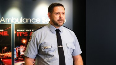 West Moreton Local Ambulance Service Network chief superintendent Drew Hebbron calls for a stop to violence against paramedics.