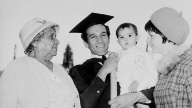 Charles Perkins and family at his University of Sydney graduation on May 11, 1966.