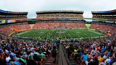 Full house: University of Hawaii's home turf, Aloha Stadium.