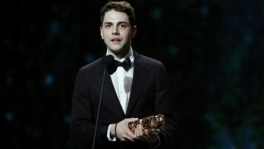 Director Xavier Dolan picking up another award at the Cesar Film Awards last month.