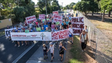 Ashburton residents have campaigned against the housing plan.