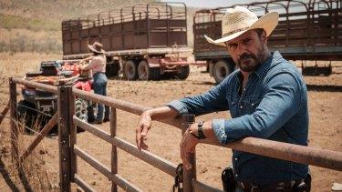 Aaron Pedersen stars as detective Jay Swan in the miniseries Mystery Road.